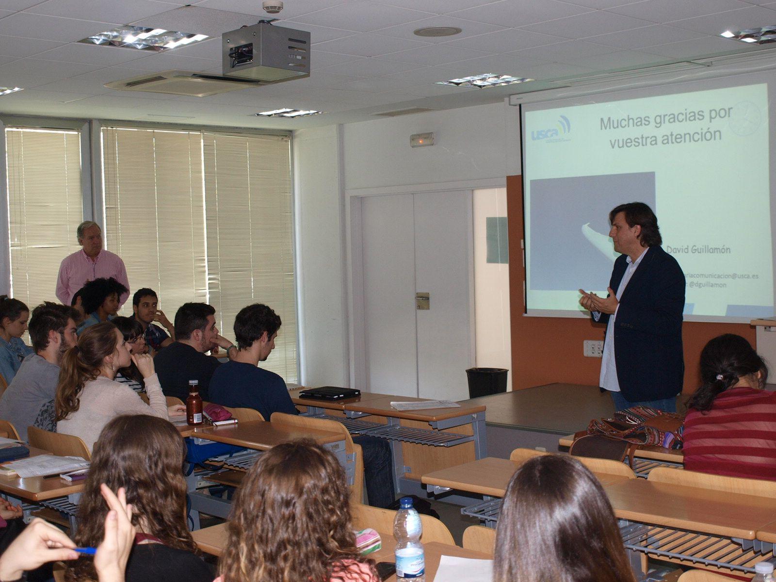 David Guillamón en la facultad de Psicología 2