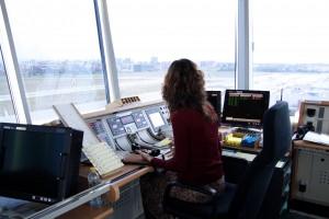 Trabajo en la torre de control