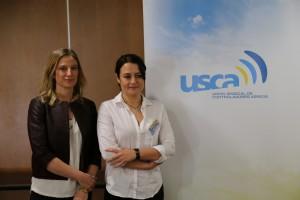 Las portavoces de USCA en la inauguración del XXVII Congreso de USCA