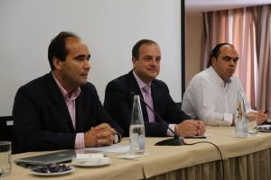 Miguel Ángel Serra, Antonio Deudero y Javier Santos